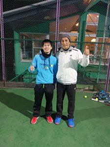 有本コーチと松山コーチ